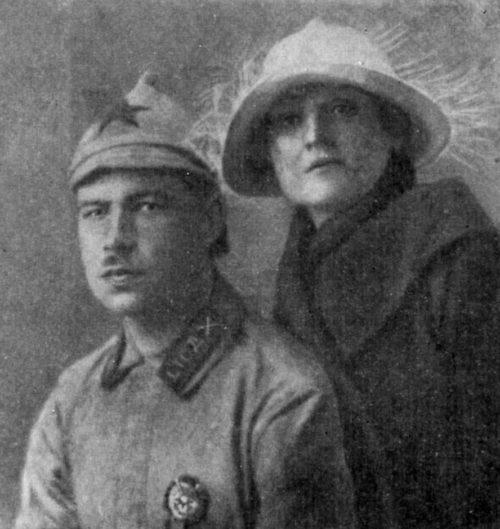 Говоров с женой. 1923 г.