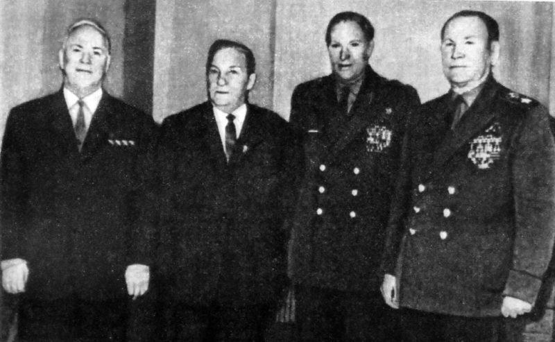 Жуков, Лукин, Рокоссовский, Конев. 1966 г.