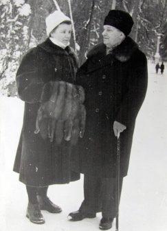 Лукин с супругой. 1970 г.