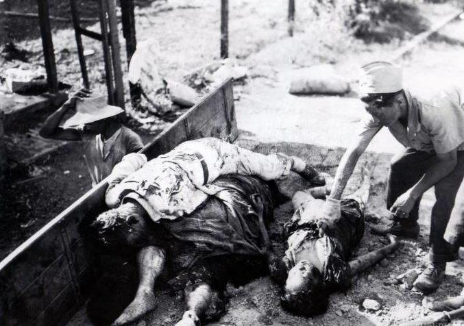 Тела убитых китайцев. Декабрь 1937 г.