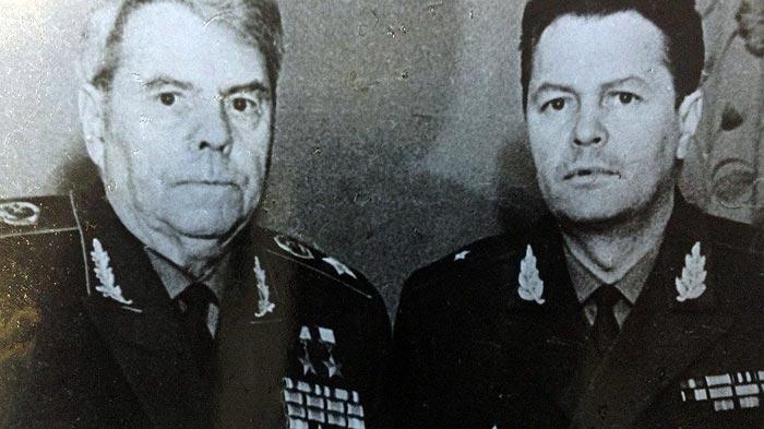 Василевский и сын Юрий. 1972 г.
