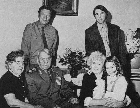 Маршал Василевский с семьей. 1975 г.