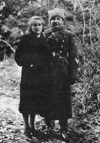 Баграмян с женой Тамарой. 1940 г.