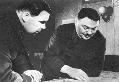Л.А. Говоров и А.А. Жданов. 1942 г.