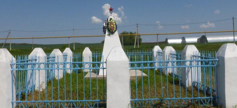с. Большой Бейсуг Брюховецкого р-на. Памятник погибшим землякам, установленный по улице Матросова.
