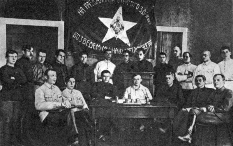 Участники конференции политработников. Конев – первый слева в первом ряду. Чита, 1921 г.