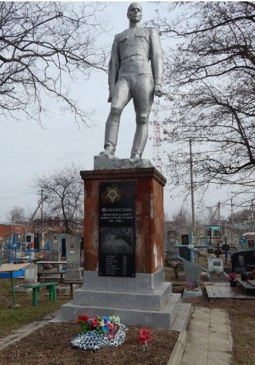 ст-ца. Каневская. Памятник, установленный на братской могиле советских воинов.