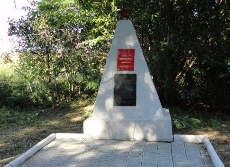 п. Восточный Курганинского р-на. Братская могила мирных жителей, казненных фашистскими оккупантами.