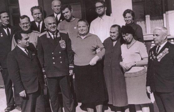 Людников в Сталинграде на месте боев. 1970 г.