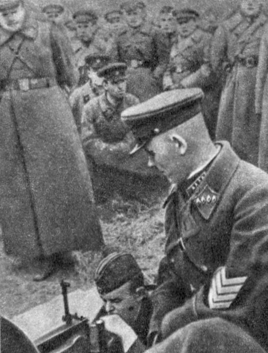 Командующий 2-й ОКДВА Конев на учениях. 1939 г.