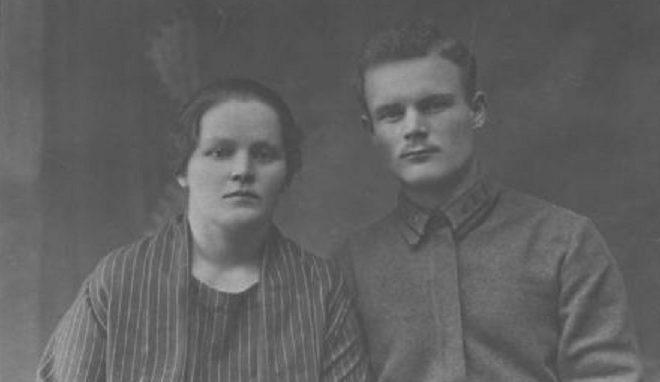 Зинаида Афанасьевна и Филипп Иванович Голиковы. Новосибирск, 1924 г.