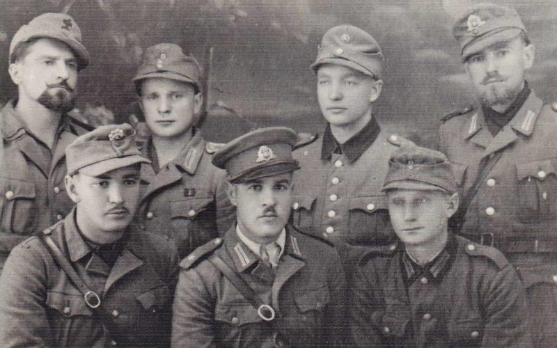 Бойцы полка Медера - литовского коллаборационистского формирования. Июль 1944 г.