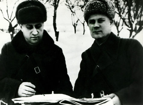 Голиков на фронте. 1942 г.