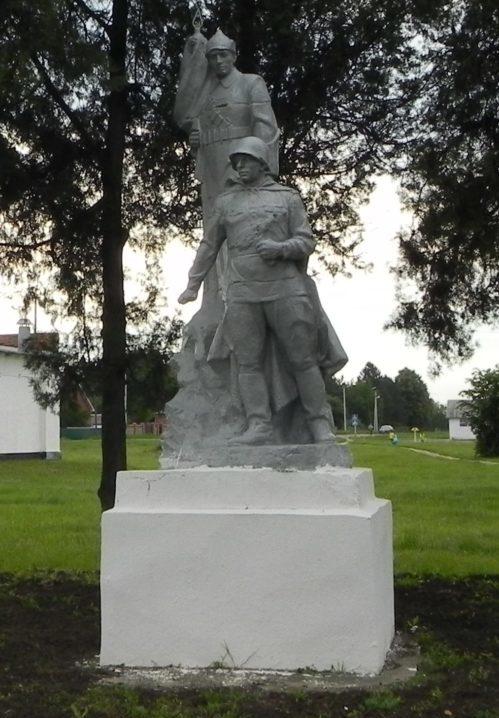 ст-ца. Платнировская Кореновского р-на. Памятник по улице Красной 2, установленный на братской могиле советских воинов.
