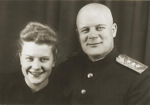Голиков с дочерью. 1955 г.