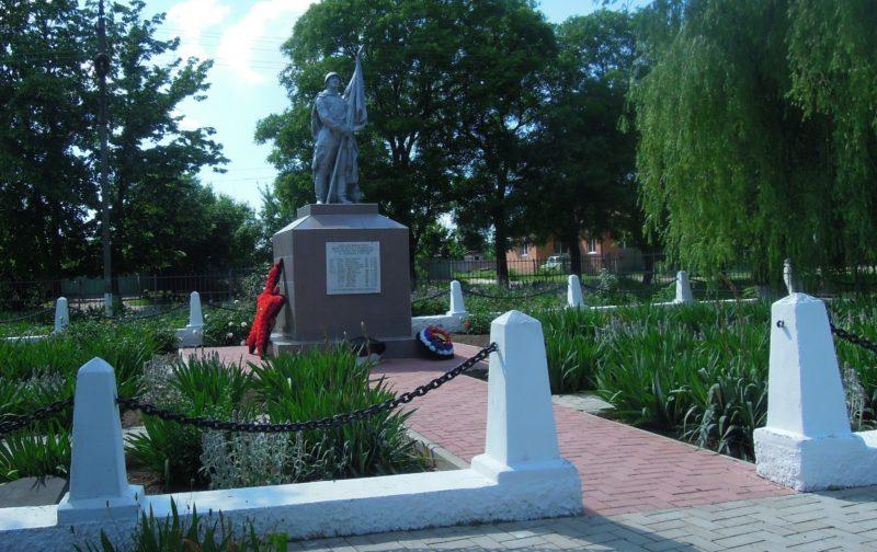ст-ца. Раздольная Кореновского р-на. Памятник по улице Советской 126, установленный на братской могиле советских воинов.