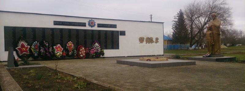 ст-ца. Новомалороссийская Выселковского р-на. Памятник землякам, погибшим в годы войны.