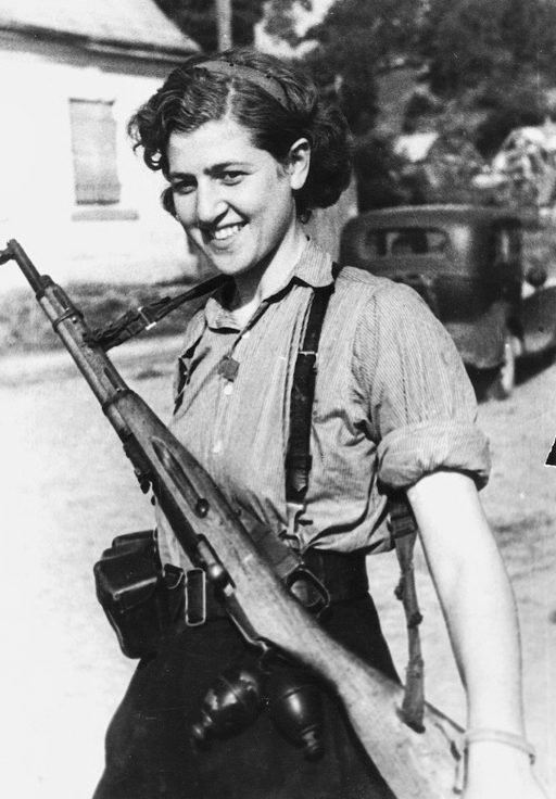 Партизанка отряда «Смерть оккупантам» С.И. Гинайте. Июль 1944 г.
