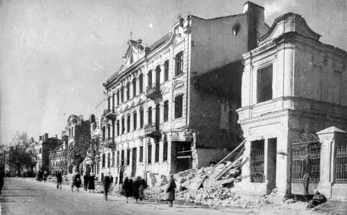 Разрушения в Вильнюсе. 1944 г.