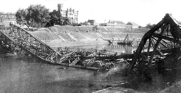 Зеленый мост в Вильнюсе. 1944 г.