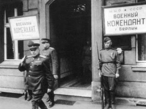 Берзарин после назначения комендантом Берлина. Май 1945 г.