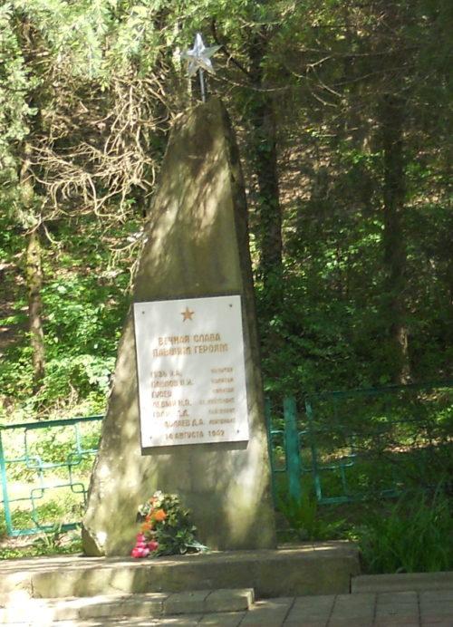 п. Солоники округа г. Сочи. Братская могила советских воинов по улице Солоники 14.
