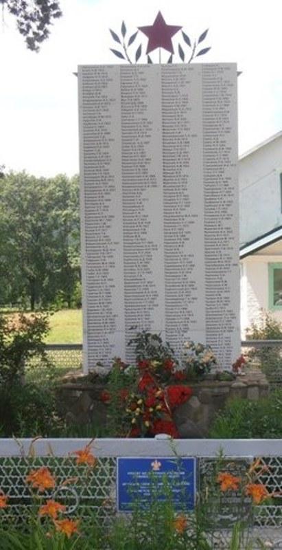 с. Безымянное г. Горячий Ключ. Памятник по улице Таманской 80, установленный на братской могиле советских воинов