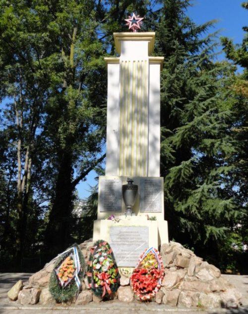 г. Сочи Центральный р-н. Памятник по улице Клубничной, установленный на братской могиле советских воинов, умерших от ран в годы войны.