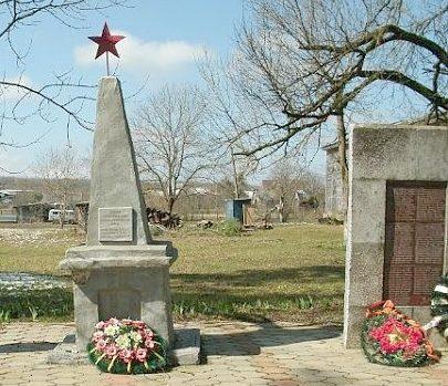 ст-ца Кутаисской г. Горячий ключ. Памятник, установленный на братской могиле советских воинов.