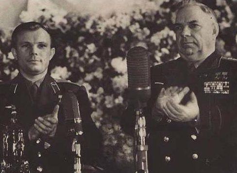 Крылов и Гагарин. 1961 г.