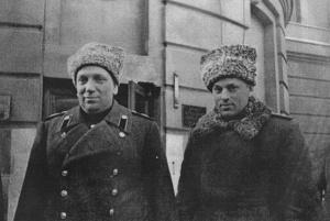 Н.Н. Воронов и К.К. Рокоссовский. 1944 г.