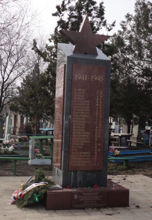 ст-ца. Староминская. Памятник землякам по улице Лермонтова.