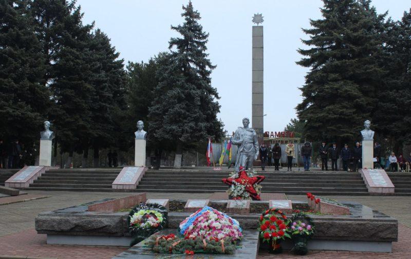 ст-ца. Староминская. Мемориальный комплекс в честь советских воинов в парке им. 30-летия Победы.
