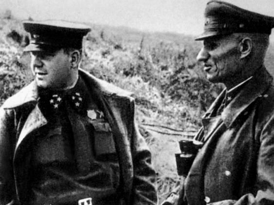 Генералы Штевнев А. Д. и Крюченкин В. Д. 1942 г.