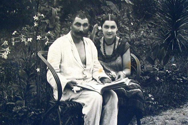 Семен Буденный со второй женой Ольгой. 1924 г.