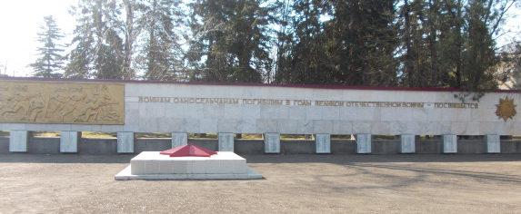 ст-ца. Нововладимировская Тбилисского р-на. Мемориал советским воинам по улице Ленина 11а.