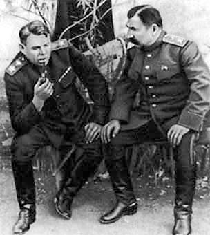 Василевский и Буденный. 1947 г.