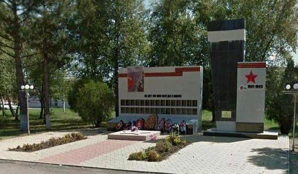 ст-ца. Старомышастовская Динского р-на. Памятник советским воинам, погибшим за освобождение Кубани.