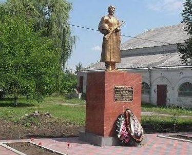 ст-ца. Старомышастовская Динского р-на. Памятник по улице Советской 53, установленный на братской могиле, в которой похоронено 4 советских воина.