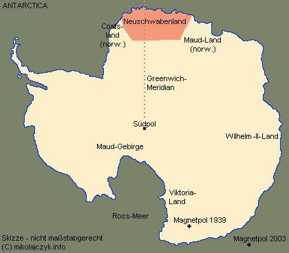Территория Новой Швабии на карте Антарктиды.