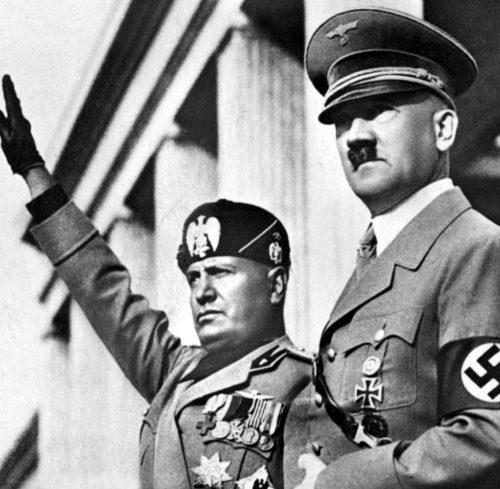 Муссолини и Гитлер.