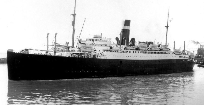 «Athenia» в гавани Монреаля. 1933 г.