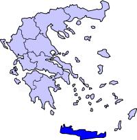 Крит по отношению к материковой Греции.