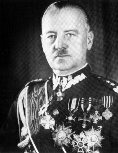 Глава польского правительства в изгнании В. Сикорский.