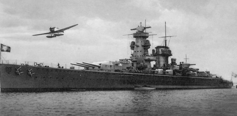 «Admiral Hipper» на немецкой открытке.
