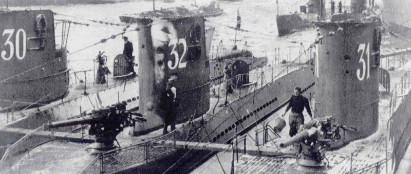 Немецкая подлодка «U-30» типа VII-A на базе. 1939 г.