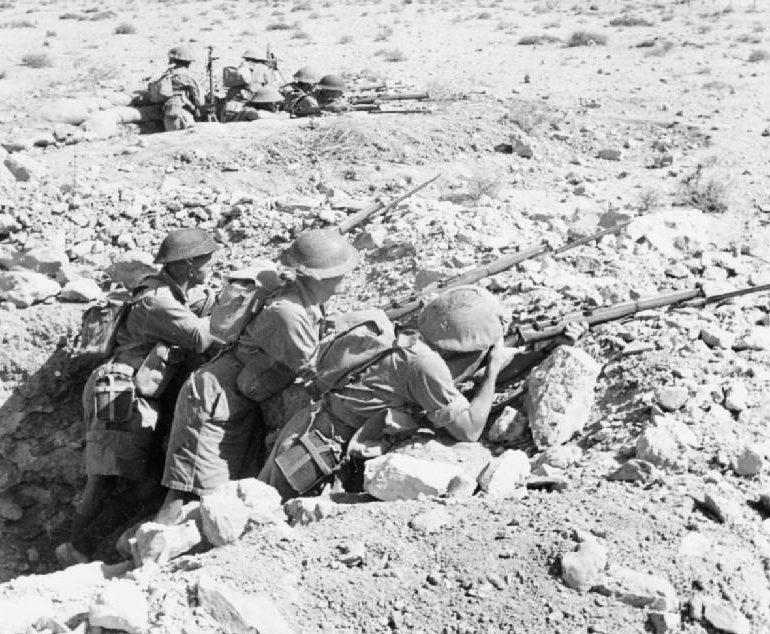 Австралийские солдаты в Северной Африке.