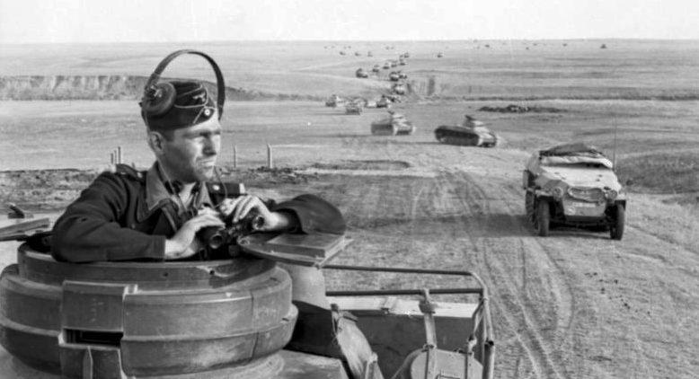 Продвижение немецких войск к Дону.