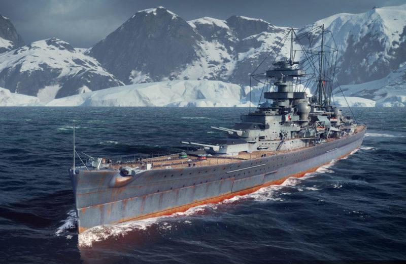 Крейсер «Admiral Hipper» глазами художника.