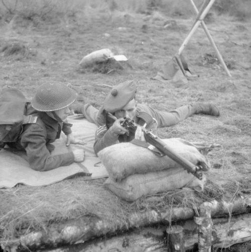 Обучение новобранцев Британской армии.